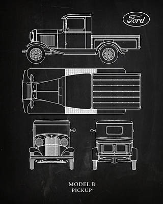 Ford Model B Pickup Poster by Mark Rogan