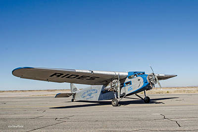 Ford Tri-motor Taxiing Poster by Allen Sheffield
