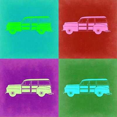 Ford Woody Pop Art  Poster by Naxart Studio