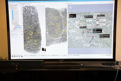 Forensic Fingerprint Analysis Poster by Louise Murray