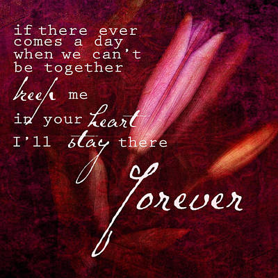 Forever Poster by Bonnie Bruno