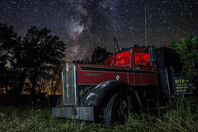 Forgotten Big Rig Night Version Poster by Aaron J Groen