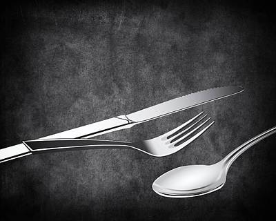 Fork Knife Spoon 10 Poster by Angelina Vick