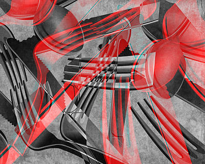 Fork Knife Spoon 8 Poster by Angelina Vick