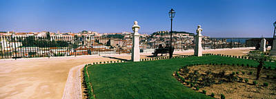 Formal Garden In A City, Alfama Poster by Panoramic Images