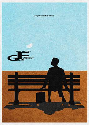 Forrest Gump Poster by Ayse Deniz