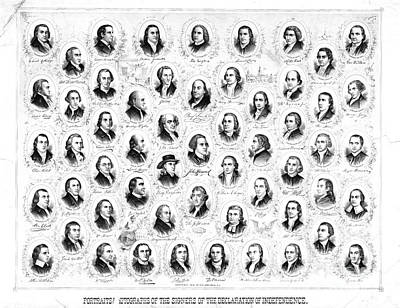 Founding Fathers 1876 Poster by Padre Art