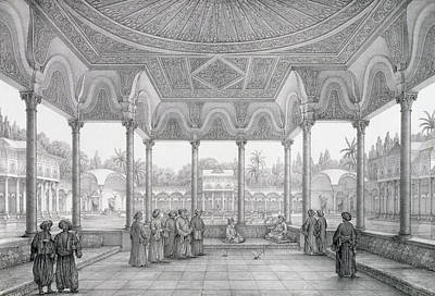 Fountain And Kiosk Of The Garden Of Choubrah Poster by Pascal Xavier Coste