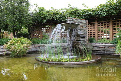 Fountain At The Historic Luther Burbank Home And Gardens Santa Rosa California 5d25912 Poster by Wingsdomain Art and Photography