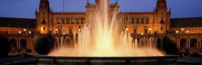 Fountain In Front Of A Palace, Plaza De Poster by Panoramic Images