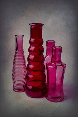Four Bottles Poster by Garry Gay