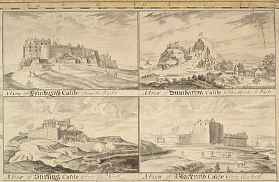 Four Scottish Castles Poster by British Library