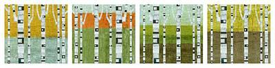 Four Seasons - White Border Poster by Michelle Calkins