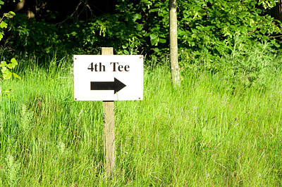 Fourth Tee Poster by Tom Gowanlock