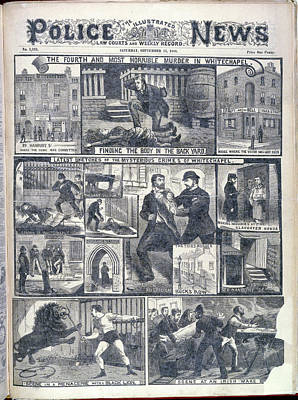 Fourth Whitechapel Murder Poster by British Library