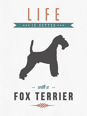 Fox Terrier 01 Poster by Aged Pixel