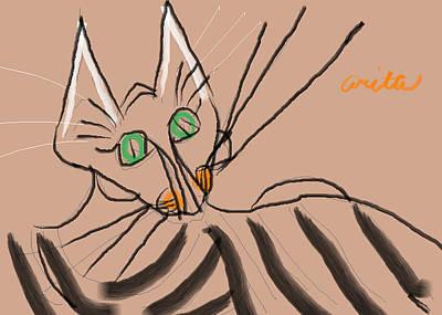 Foxy Poster by Anita Dale Livaditis