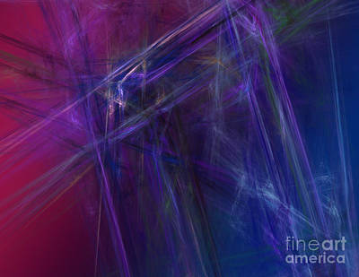 Fractal Abstract Poster by Amanda Collins