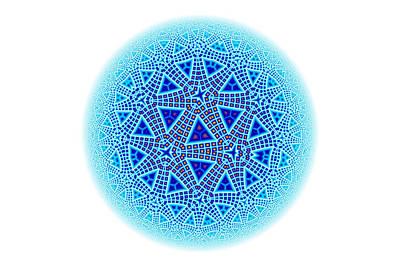 Fractal Escher Winter Mandala 5 Poster by Hakon Soreide