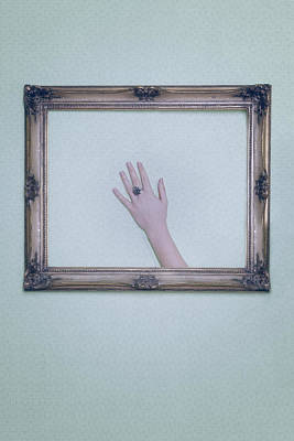 Framed Hand Poster by Joana Kruse