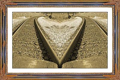Framed Heart Poster by Betsy C Knapp