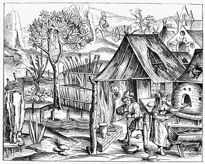 France Bread Making, 1517 Poster by Granger