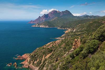 France, Corsica, Golfe De Girolata Poster by Walter Bibikow