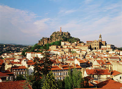 France, Le Puy, Haute Loire, Cathedral Poster by David Barnes