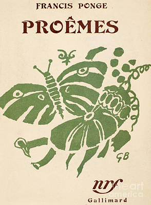 Francis Ponge: Proemes Poster by Granger