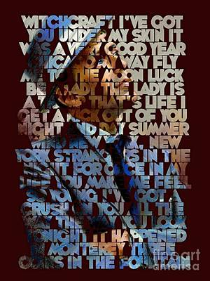 Frank Sinatra - The Songs Poster by Spencer McKain