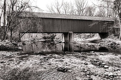 Frankenfield Bridge Over The Tinicum Creek Poster by Olivier Le Queinec