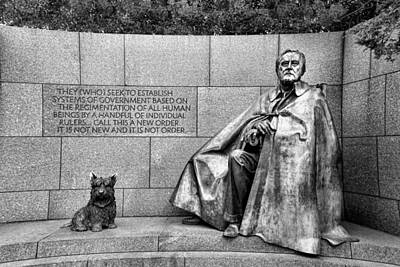 Franklin Delano Roosevelt Memorial Poster by Allen Beatty