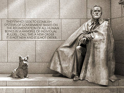 Franklin Delano Roosevelt Memorial - Bits And Pieces 7 Poster by Mike McGlothlen