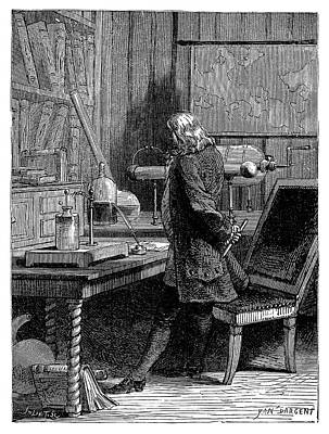 Franklin In His Laboratory Poster by Science Photo Library