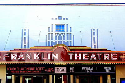 Franklin Theatre Poster by Anthony Jones
