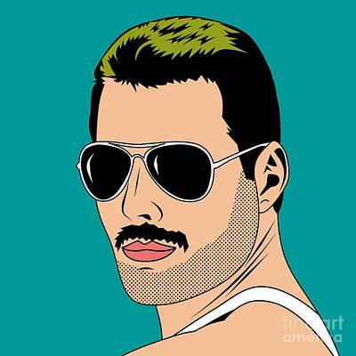 Freddie Mercur Poster by Mark Ashkenazi