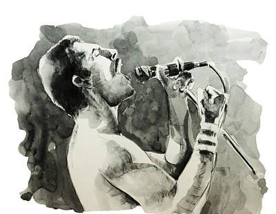 Freddie Mercury 8 Poster by Bekim Art