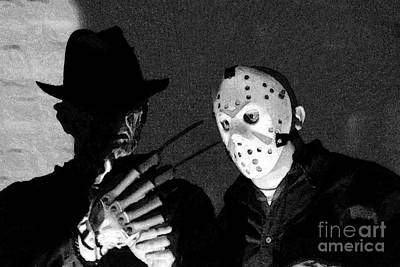 Freddy And Jason Poster by John Gaffen