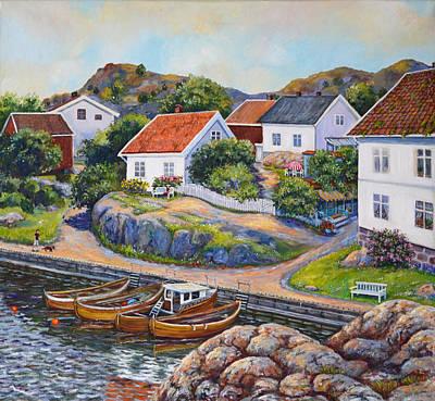Memories From Nevlunghavn Poster by Laila Skjemstad