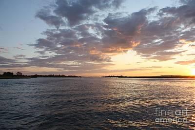 Freeport Cloudy Summertime Sunset Poster by John Telfer