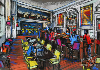 French Cafe Interior Poster by Mona Edulesco