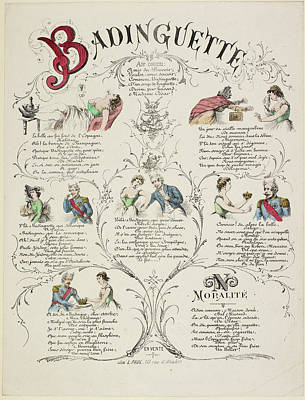 French Caricature - Badinguette Poster by British Library