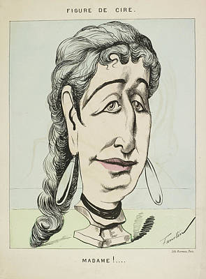 French Caricature- Figure De Cire: Madame Poster by British Library