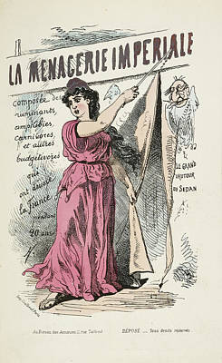 French Caricature- La Menagerie Imperiale Poster by British Library