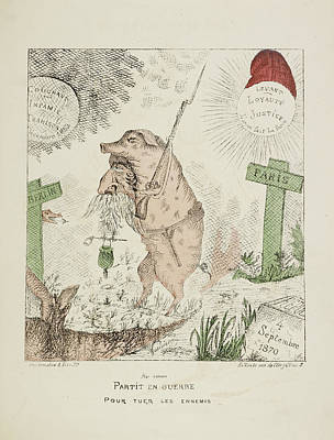 French Caricature - Partit En Guerre Poster by British Library