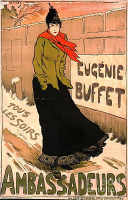 French Chanteuse 1893 Poster by Padre Art