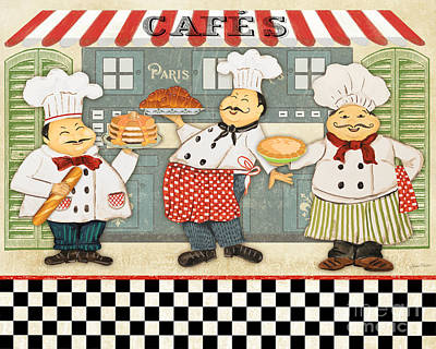 French Chefs-jp2280 Poster by Jean Plout
