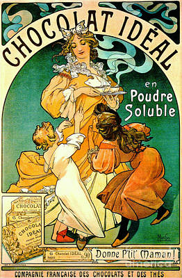 French Chocolate Ad C1895 Poster by Padre Art