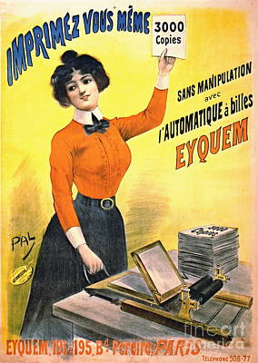 French Copier Ad 1899 Poster by Padre Art