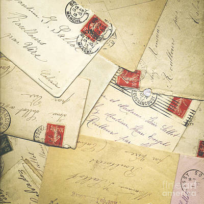French Correspondence From Ww1 #1 Poster by Jan Bickerton